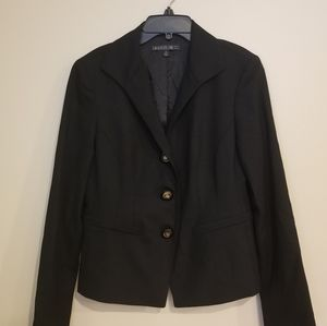 Lafayette 148 Black Long Sleeve Career Blazer S4